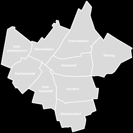 Karte der Gemeinde Sierndorf