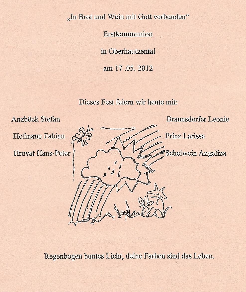 Erstkommunion 2012 Sierndorf